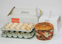 美黄卵さくら30個とたまごシフォンセット