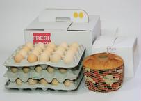 美黄卵さくら60個とたまごシフォンセット