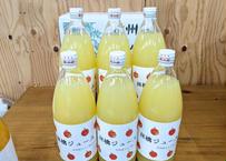 りんごジュース 1000ml×6本 濃厚ストレートジュース  長野県産サンふじ100%使用 夏ギフトにも!