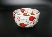 紅白梅 抹茶碗