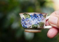 ミニチュア コーヒー碗皿(紫陽花 鉄線 桔梗)