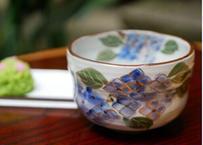 抹茶椀(小・紫陽花)