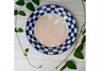 8寸皿(市松模様)