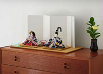 「ASAGIRI」シリーズ 雛人形 コンパクト親王飾り 正絹友禅  20-GW
