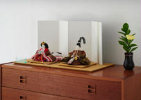 「ASAGIRI」シリーズ 雛人形 コンパクト親王飾り 正絹名物裂  20-MW