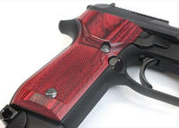 ウッドグリップ KSC製|M93R|チェッカー/レッド