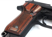 ウッドグリップ KSC製|M93R|チェッカー/ブラウン