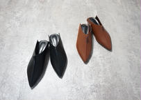 LEATHER POINTED TOE SLIPPER
