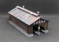 【受注生産】木造機関庫 -KATO-(塗装・組み立て完成品)