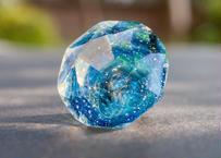 ダイヤモンド型オブジェ 宇宙 黒 (ボロシリケイトガラス)