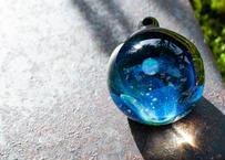 月と花 レインボーオパール UV (ボロシリケイトガラス) ON-11205