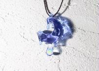 雫 レインボーオパール CFL(紫・水色) (ボロシリケイトガラス) SN-12103