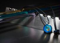 宇宙 三ヶ月ブラックオパール 水色(ボロシリケイトガラス) ON-11211