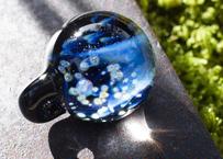 月と花 レインボーオパール UV (ボロシリケイトガラス) ON-11202