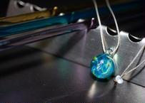 宇宙 レインボーオパール 水色(ボロシリケイトガラス) ON-11212