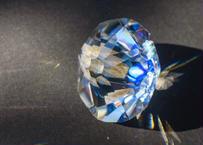 ダイヤモンド型オブジェ 透明背景 (ボロシリケイトガラス) GN-12214