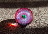 宇宙玉 ブラックオパール ルビー背景 (ボロシリケイトガラス) ON-11231