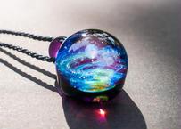 宇宙 レインボーオパール アメジスト (ボロシリケイトガラス) ON-11227