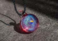宇宙 レインボーオパール ルビー背景 (ボロシリケイトガラス) ON-11233