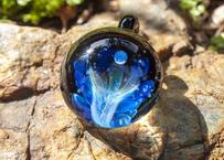 月と花 レインボーオパール UV (ボロシリケイトガラス) ON-11201
