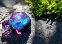 宇宙 レインボーオパール アメジスト (ボロシリケイトガラス) ON-11226