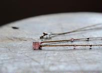 ピンクトルマリン/一粒の鉱物ネックレス107