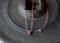 ピンクトルマリン/一粒の鉱物ネックレス128