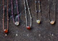 ゴビアゲート/一粒の鉱物ネックレス35