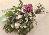 紫陽花とユーカリのスワッグ