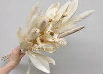 ネイティブフラワーのドライスワッグ Ivory
