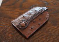 オーストリッチ革 ベル型キーホルダー