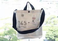 横濱帆布鞄 Musette Carry Bag WHT