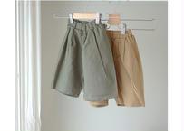 summer middle pants / パンツ / コットン素材 / ベージュ / カーキ / キッズ / 85-130 / 男の子 / 女の子