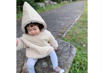 Pygmy coat / モコモコ素材 / フード付き / コーデュロイ / ベージュ / キャラメル / ベビー / キッズ / 秋冬