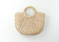 raffia circle bag / ラフィアバック / かごバッグ