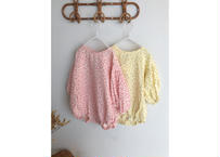baby union suit / ロンパース / 花柄 / イエロー / ピンク/ ベビー / 女の子
