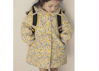 【予約受付終了】Luda quilting jacket / キルティングジャケット / ライトブルー / イエロー / キッズ / 女の子