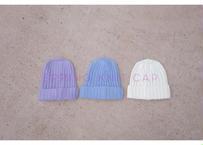 spring knit cap / ビーニー / ニットキャップ/ パステルカラー / ブルー /パープル / ホワイト