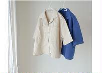MERE SHIRT / シャツ / ブルー / リネン / キッズ / 男の子 / 女の子