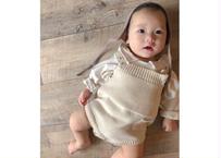 mon knit suits / ニットロンパース / ロンパース / ニット / クリーム / ベージュ / ベビー / 男の子 / 女の子
