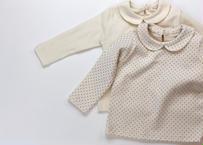 naive blouse / ブラウス / もっちり素材 / 丸襟 / ドット柄 / ホワイト / シンプル