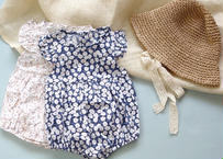 flower rompers / ピンク/ ブルー
