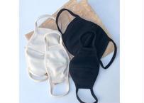 waffle mask set / 4点セット / マスク / ワッフル素材 / アイボリー / ブラック / キッズ / 大人 / ママ / パパ