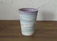 A14 色彩結晶釉フリーカップ 紫