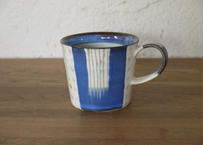 A51色彩結晶釉マグカップ藍ドット