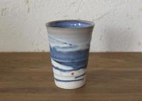 A15 色彩結晶釉フリーカップ 紺黒
