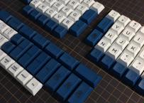 DSA PBT dye-sub ERGO 95 Keycap Set(White/NAVY)