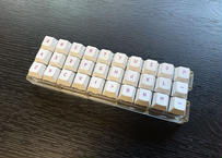 Gherkin 自作キーボードキット(クリアアクリルプレート)