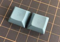 DSA PBT ブランク キーキャップ  (2Piece/Dark gray)