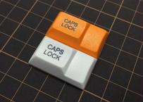DSA PBT キーキャップ (1個/1.75U/CAPSLOCK/オレンジ/ホワイト/イエロー)